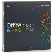 Microsoft Office Mac Home Business 1PK 2011 Russian Russia Only EM DVD No Skype