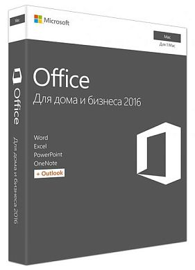 Microsoft Office Mac Home Business 1PK 2016 Russian Russia Only Medialess No Skype P2