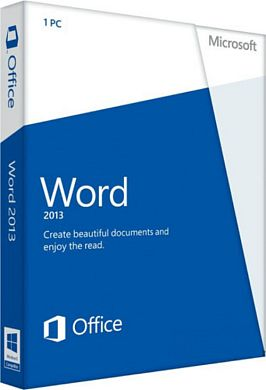 Microsoft Word 2013 32-bit/x64 Russian 1 License Central / Eastern Europe Only DVD