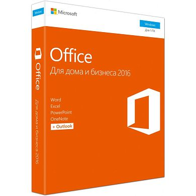 Microsoft Office Home and Business 2016 32/64 Russian Russia Only DVD No Skype P2 (Коробочная версия), T5D-02705/T5D-02292