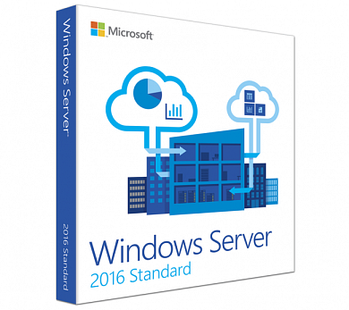 Microsoft Windows Server Standard 2016 64Bit Russian Russia Only DVD 5 Clt 16 Core License