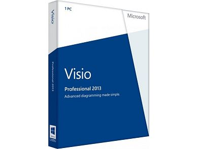 Microsoft Visio  Professional 2013 32-bit/x64 Russian 1 License CEE Only DVD  D87-05646